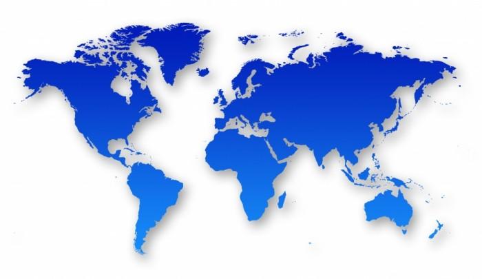 Hydoring maailma kartta